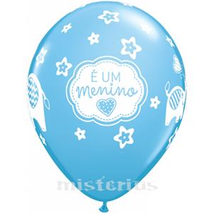 Balão É um Menino Látex  unid