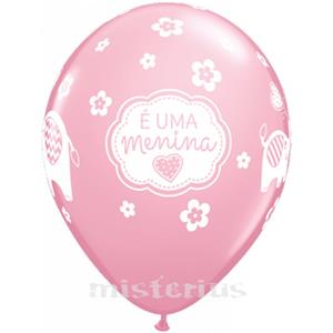 Balão É uma Menina Látex unid