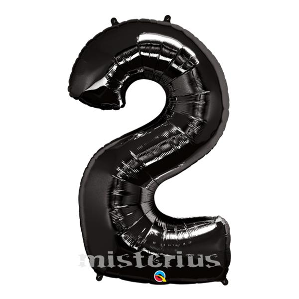 Balão em Forma de Número Preto