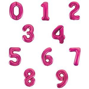 Balão em Forma de Número Rosa