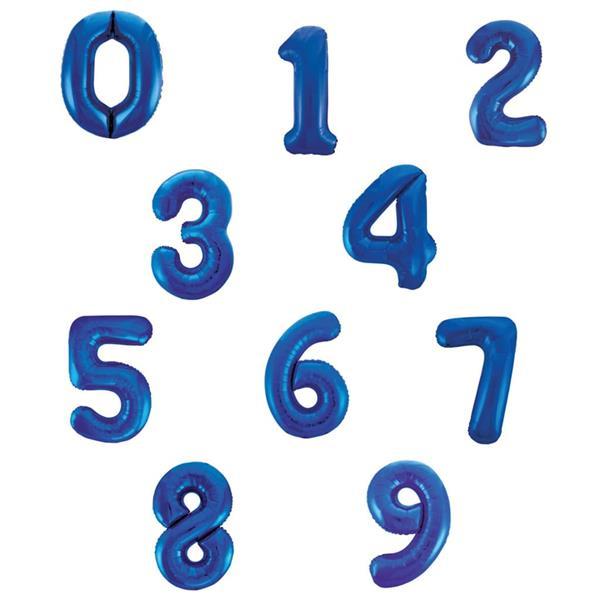 Balão em Forma de Número Azul