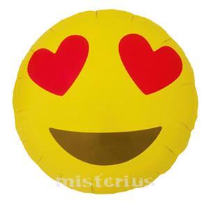 Balão Emoji Olhos Corações
