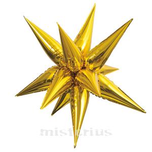 Balão Estrela Foil Dourado