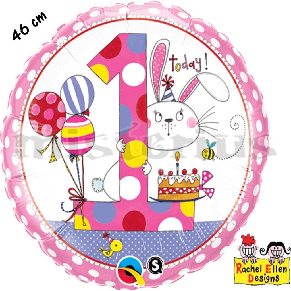 Balão Foil 1 Ano Coelho