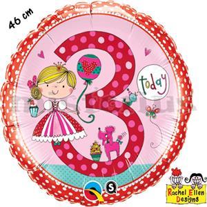 Balão Foil 3 Anos Princess