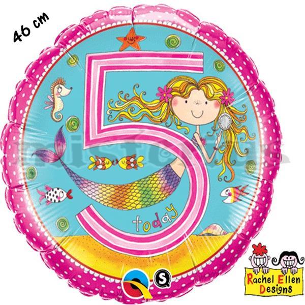 Balão Foil 5 Anos Sereias