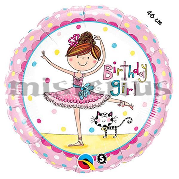 Balão Foil  Bailarina 46 cm