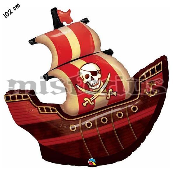 Balão Foil Barco Pirata