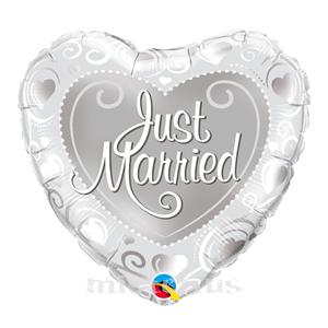 Balão Foil Coração Casados de Fresco