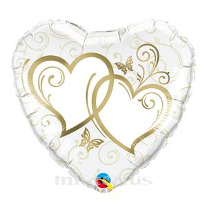 Balao Foil Coração Dourado
