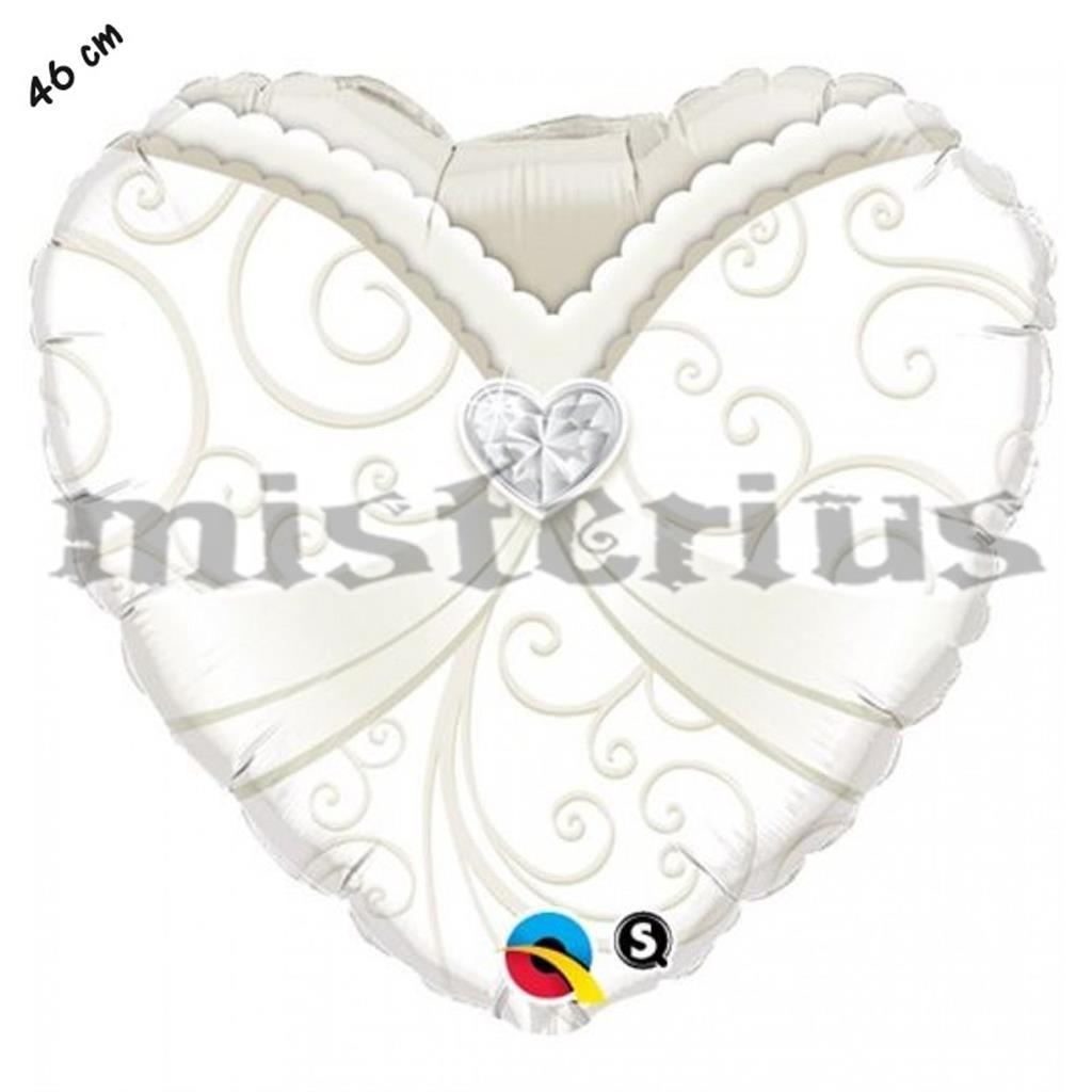 Balão Foil Coração Noiva