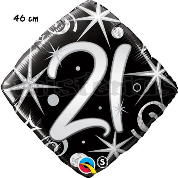Balão Foil Diamond 21 Elegant Sparkles
