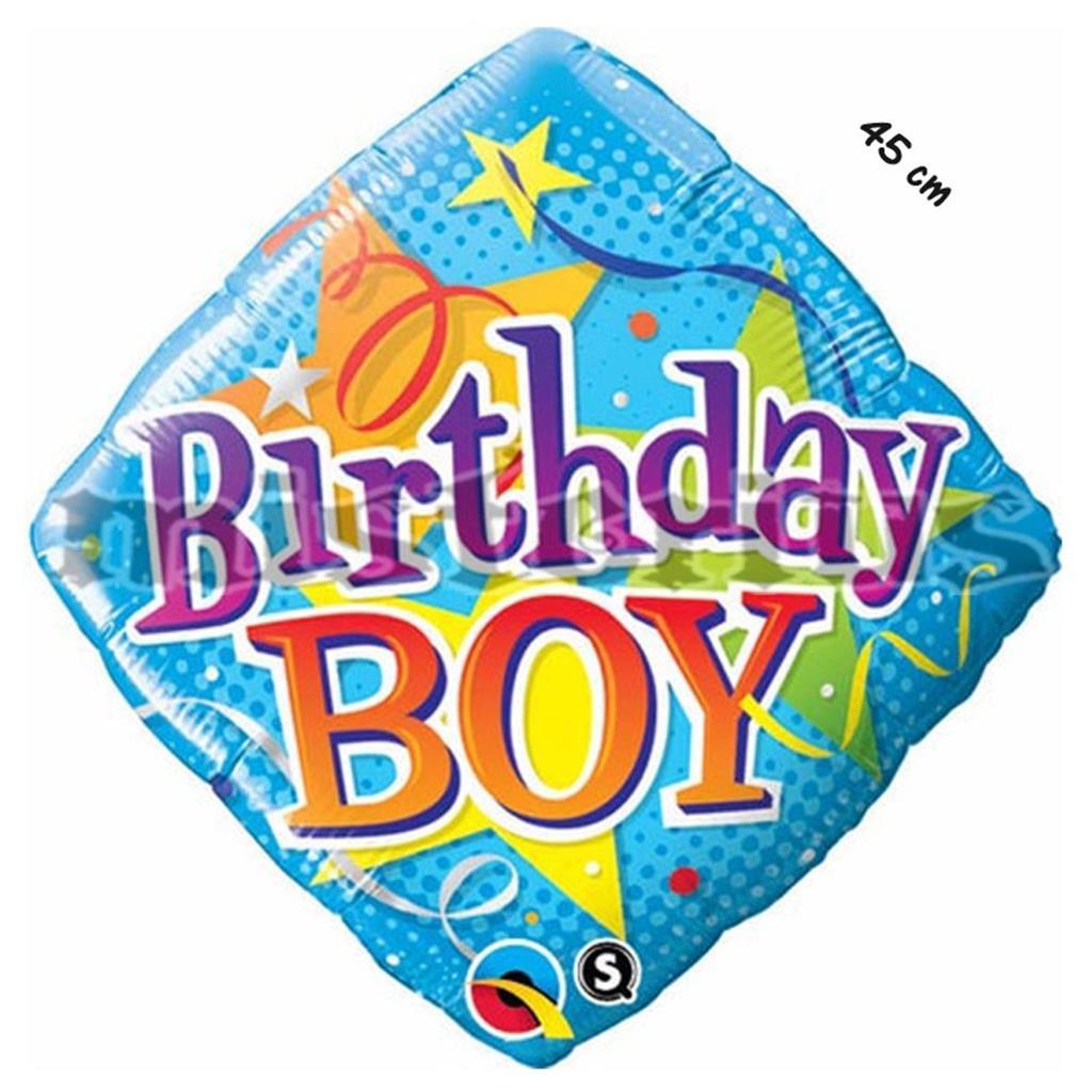 Balao Foil diamond birthday Boy
