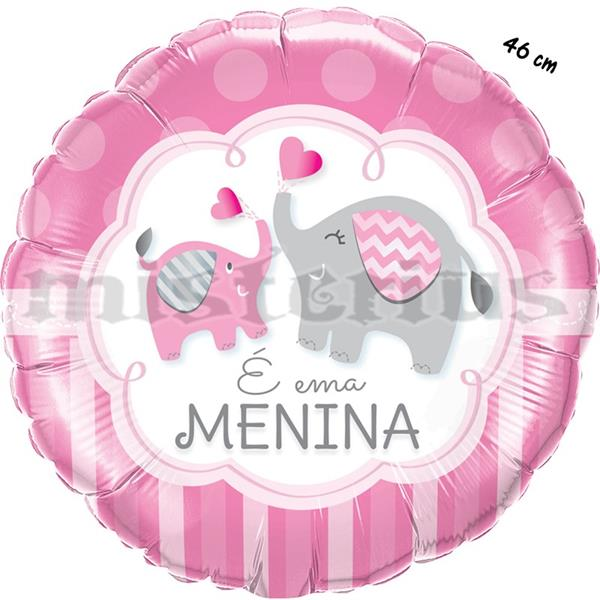 Balão Foil É Uma Menina, 46cm