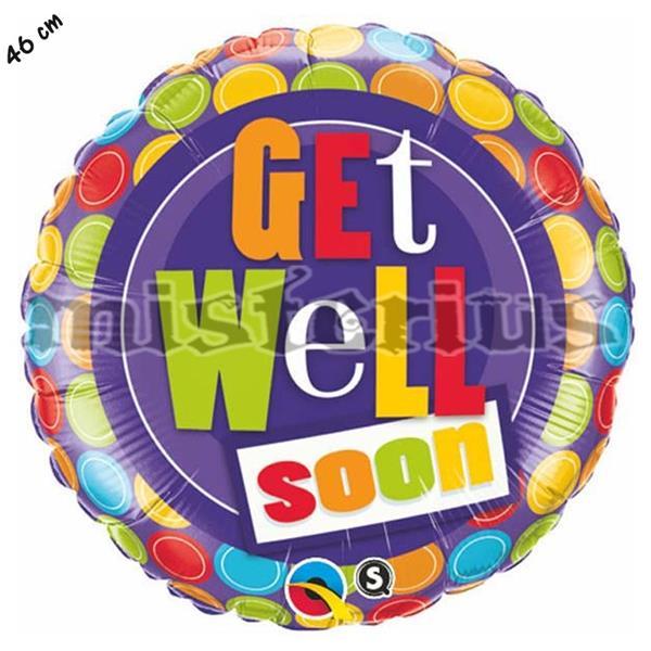 Balão Foil Get Well Soon