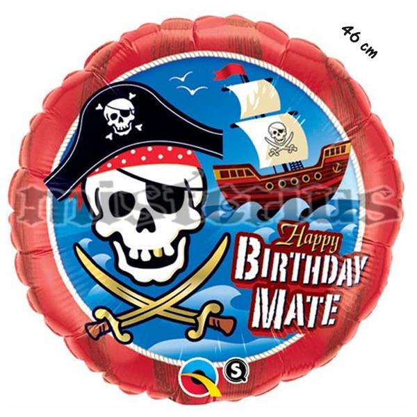 Balao Foil Happy Barco Pirata