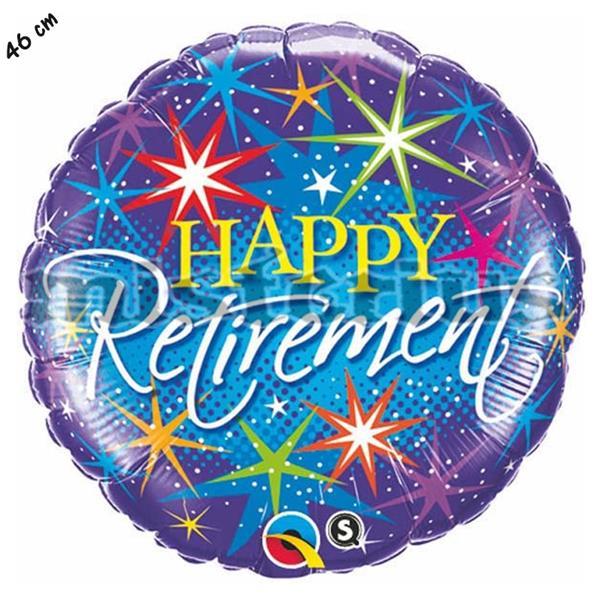 Balão Foil Happy Retirement