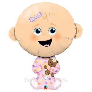 Balão Foil Menina Bebé, 97cm