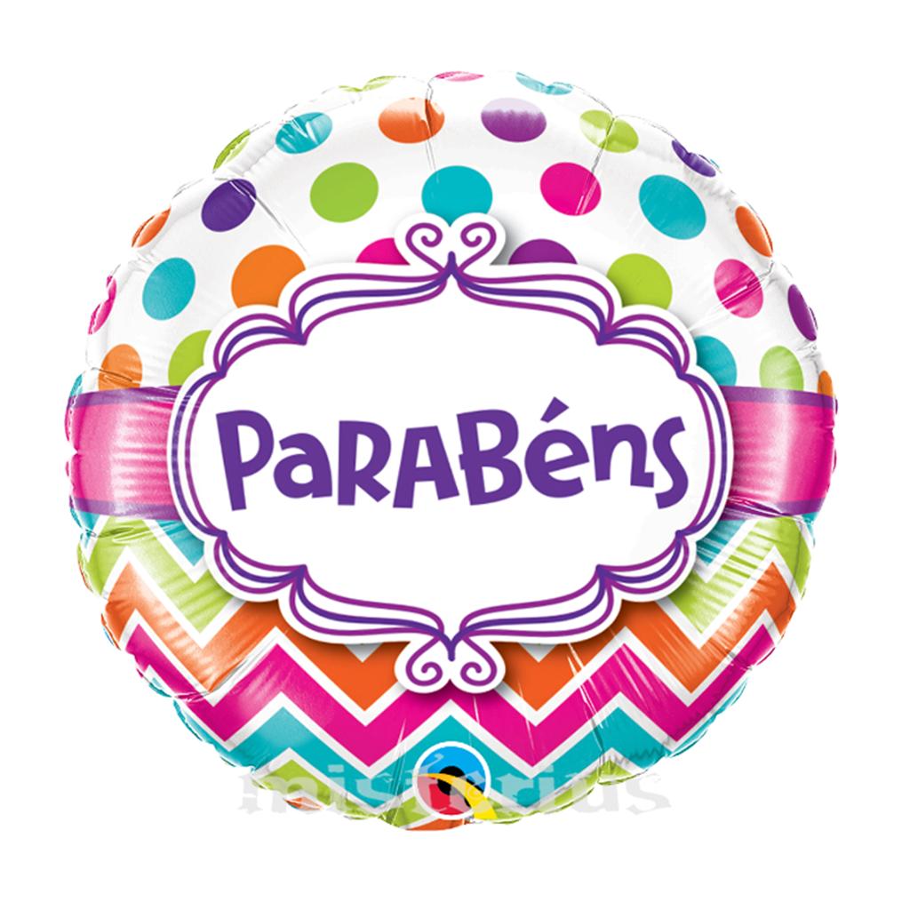 Balão Foil Parabéns 46 cm