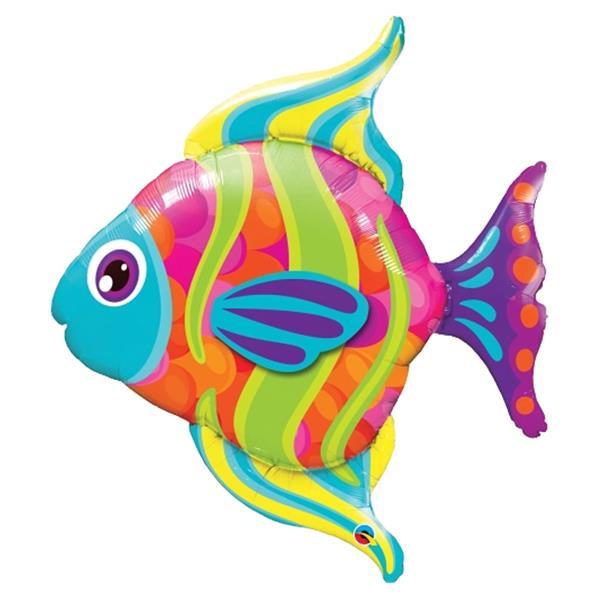 Balão Foil Peixe Colorido