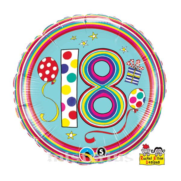 Balão Foil  Redondo 18 Polka Dots