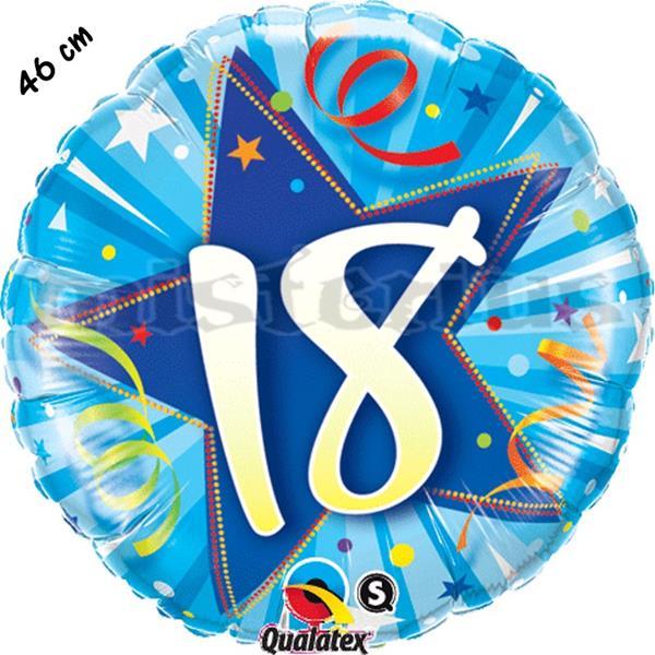 Balão Foil Redondo 18 Shining Star Azul