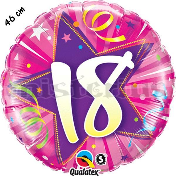 Balão Foil Redondo 18 Shining Star Rosa