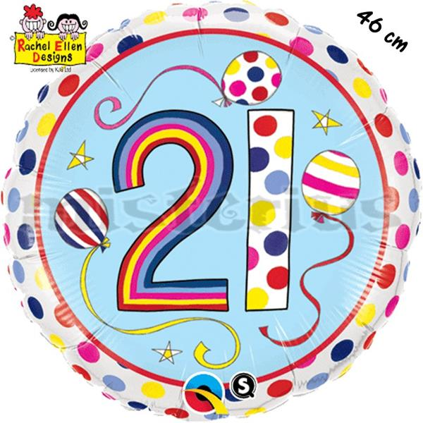 Balão Foil  Redondo 21 Polka Dots