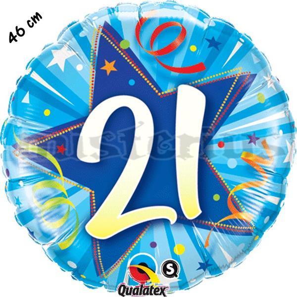 Balão Foil Redondo 21 Shining Star Azul