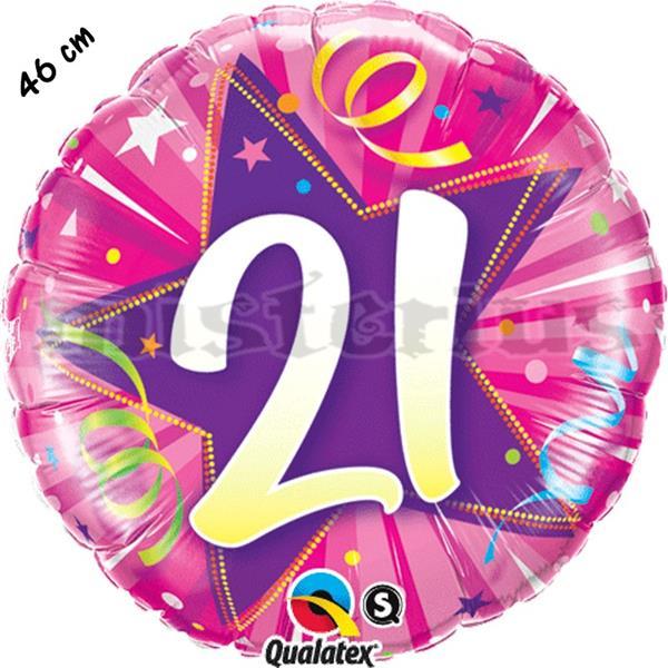 Balão Foil Redondo 21 Shining Star Rosa