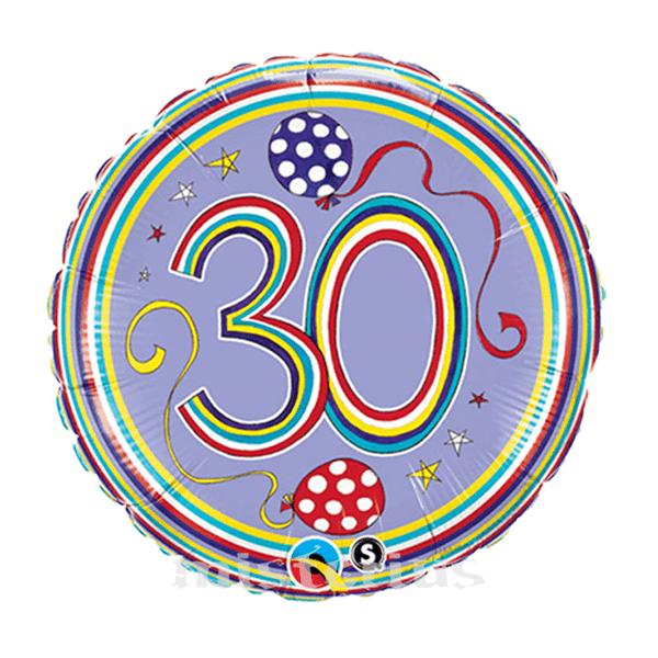 Balão Foil  Redondo 30 Polka Dots