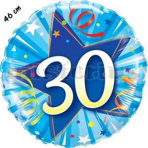Balão Foil Redondo 30 Shining Star Azul