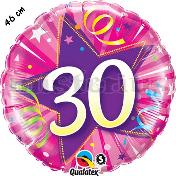 Balão Foil Redondo 30 Shining Star Rosa