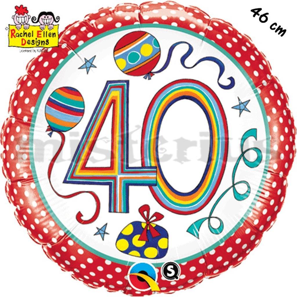 Balão Foil  Redondo 40 Polka Dots
