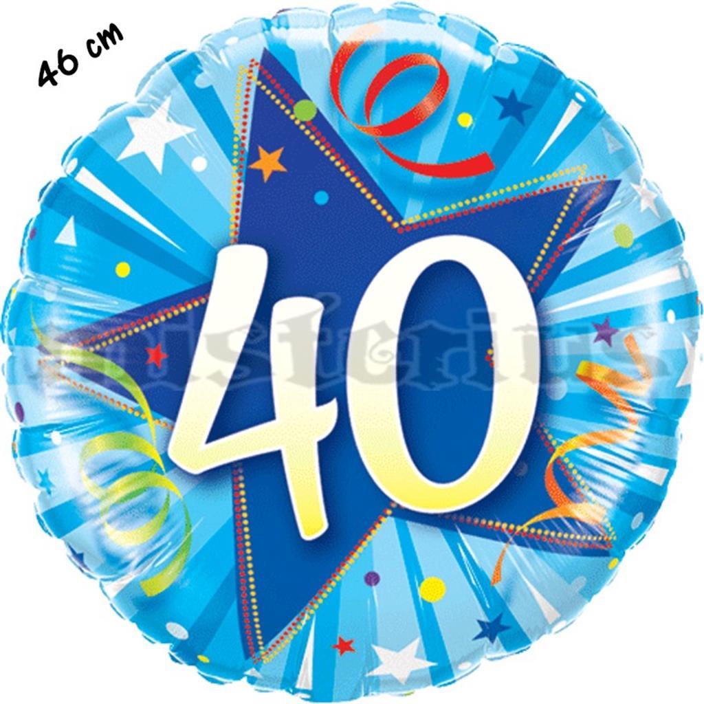 Balão Foil Redondo 40 Shining Star Azul