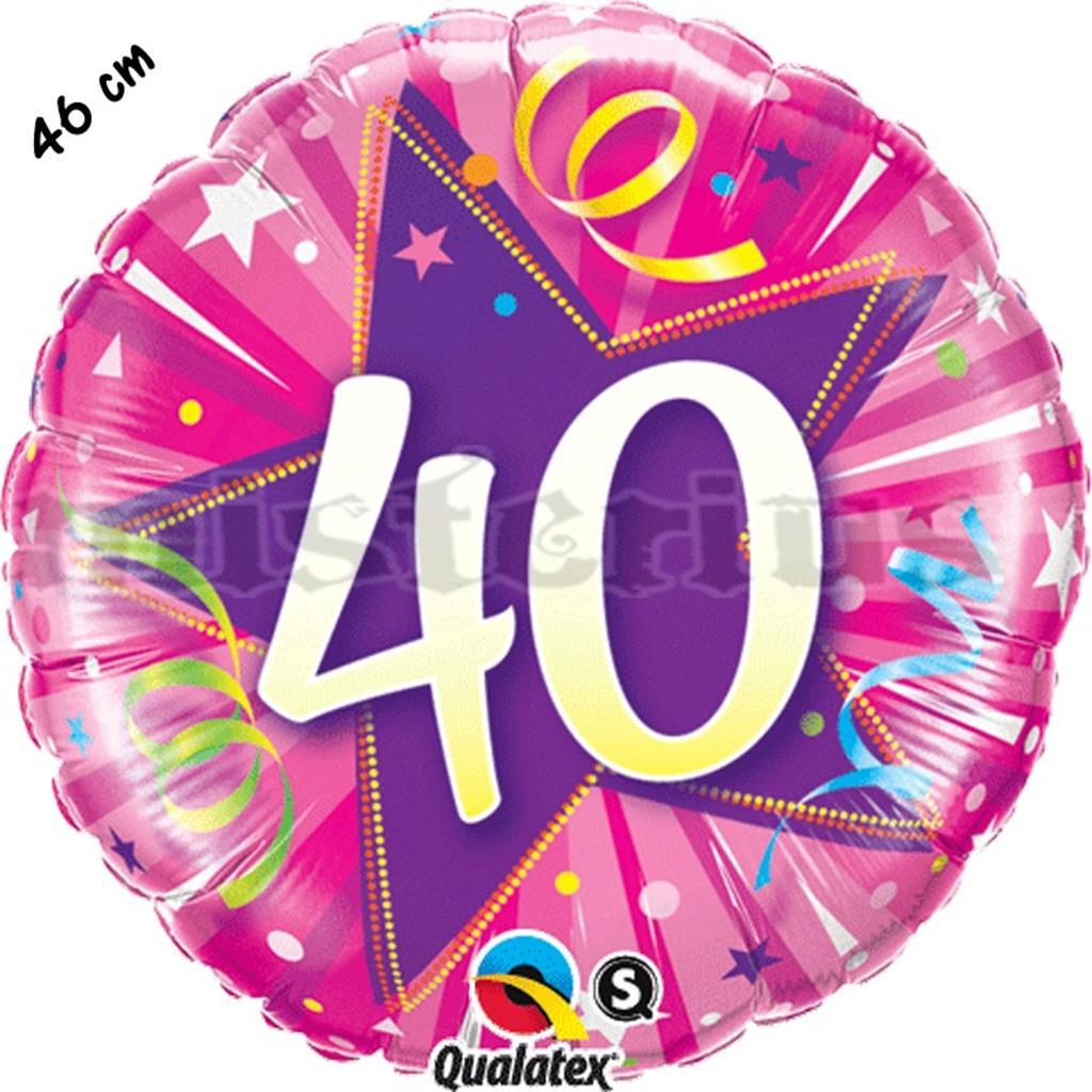 Balão Foil Redondo 40 Shining Star Rosa