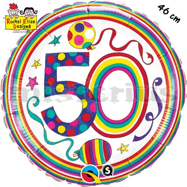 Balão Foil  Redondo 50 Polka Dots