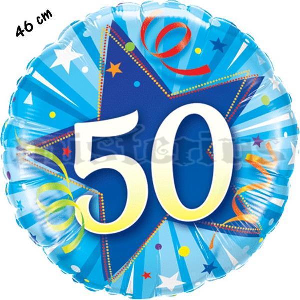 Balão Foil Redondo 50 Shining Star Azul