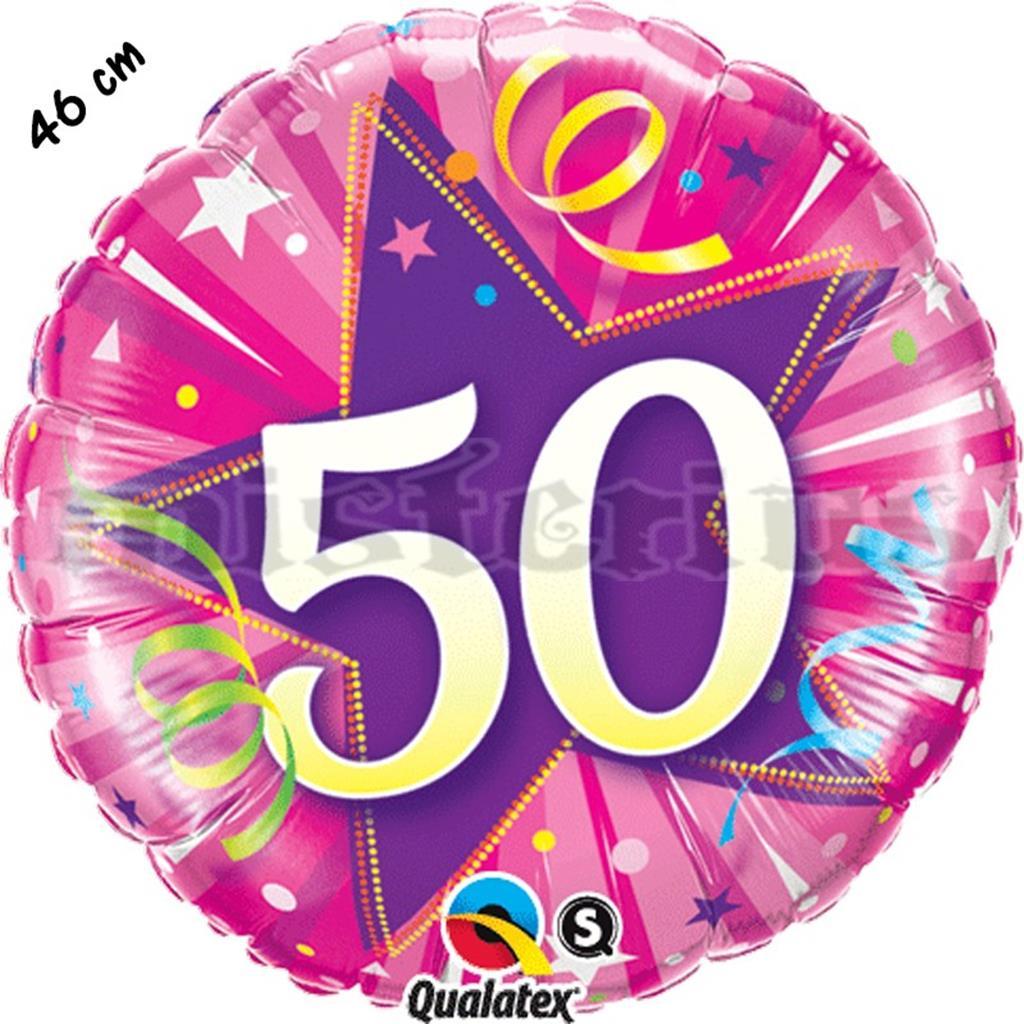 Balão Foil Redondo 50 Shining Star Rosa