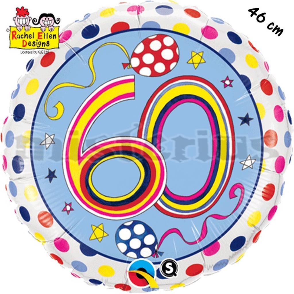 Balão Foil  Redondo 60 Polka Dots
