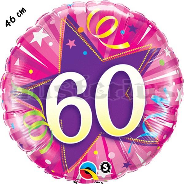 Balão Foil Redondo 60 Shining Star Rosa