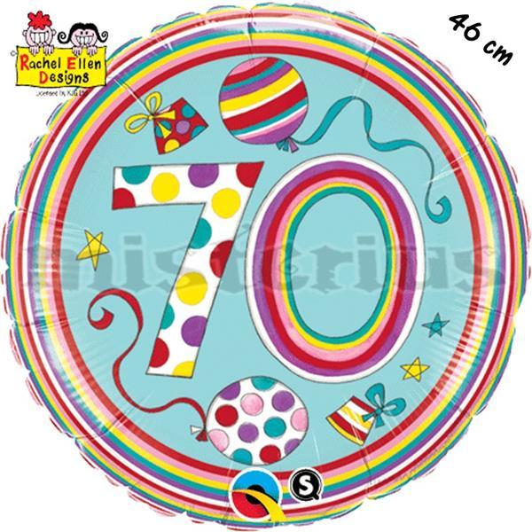 Balão Foil  Redondo 70 Polka Dots