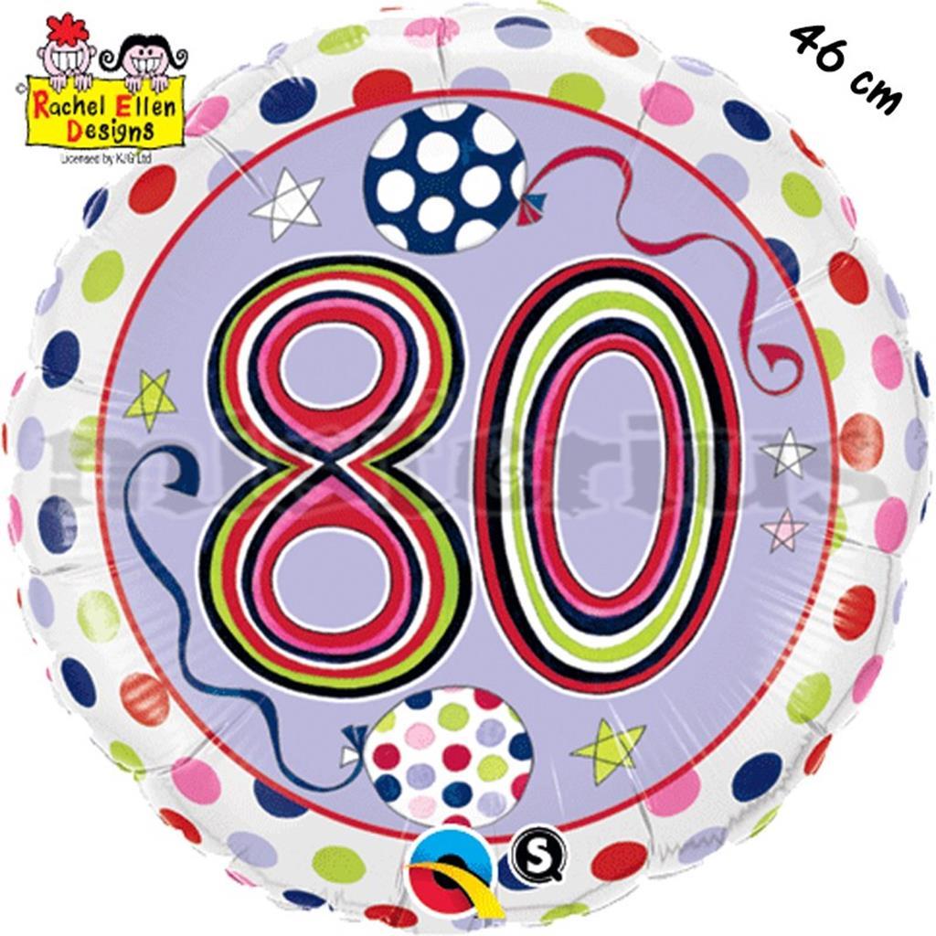Balão Foil  Redondo 80 Polka Dots