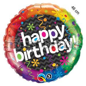 Balao Foil Redondo Happy Birthday