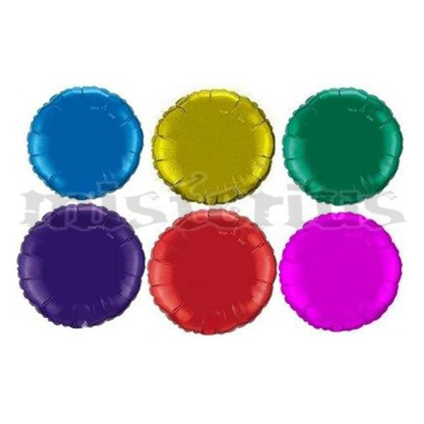 Balão Foil Redondo Metalizado 23 cm