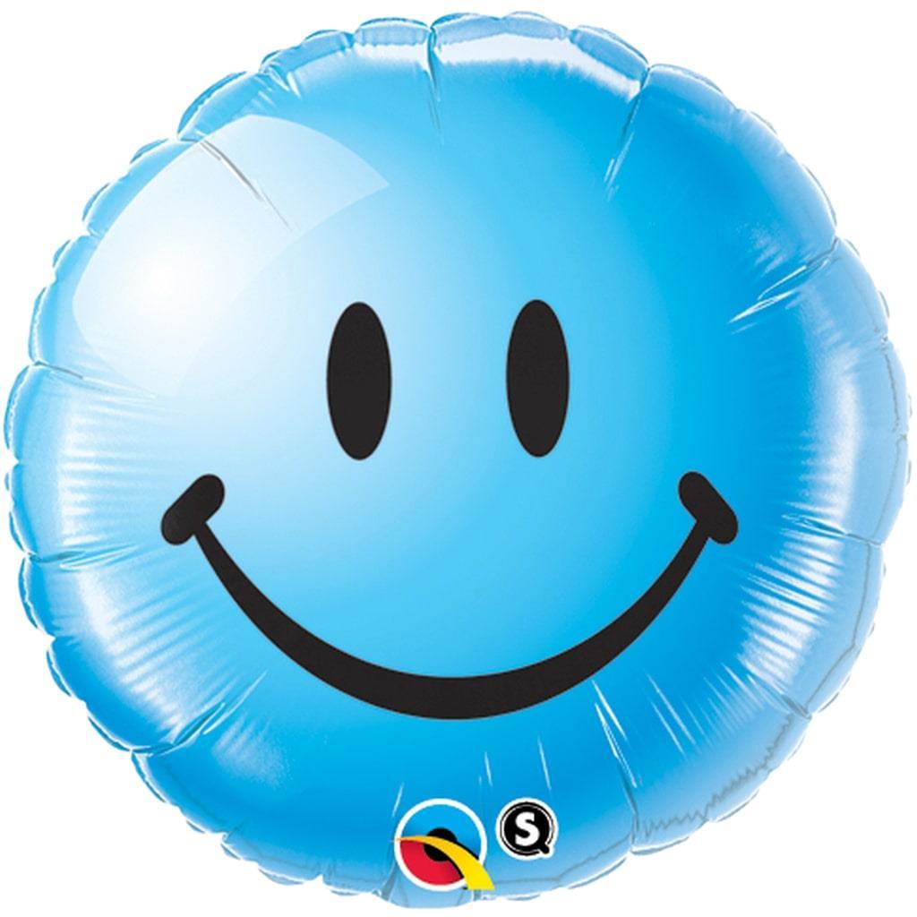 Balão Foil Smile Azul 46cm