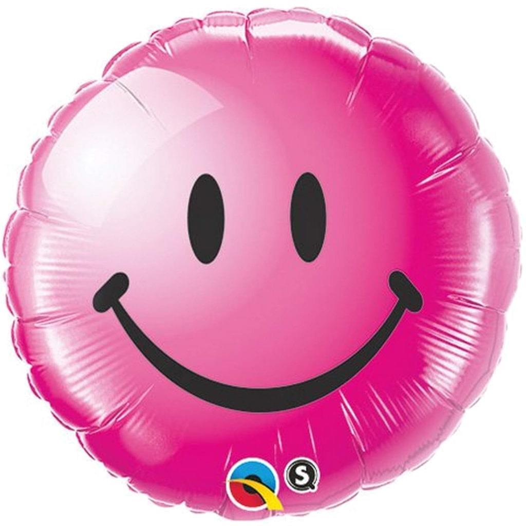 Balão Foil Smiley Rosa 46 cm