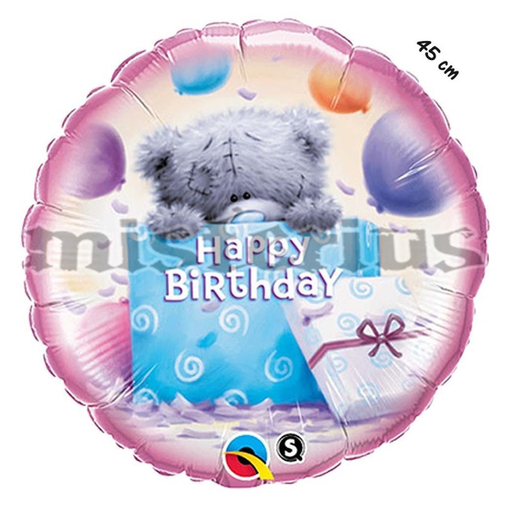 Balao Foil Urso Presente Happy