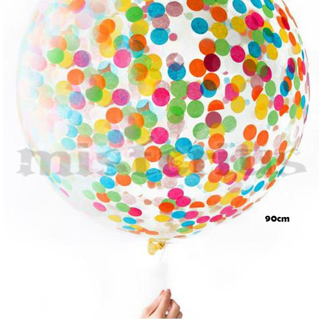 Balão Gigante Transparente Confetis