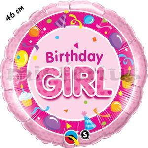Balão Happy Birthday Girl Pink
